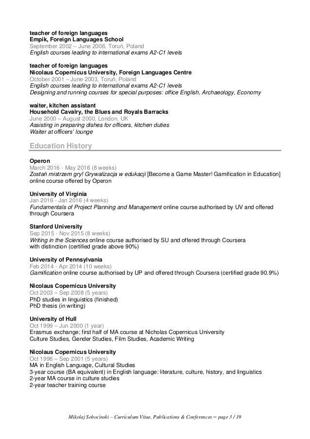 mikolaj sobocinski  cv - publications