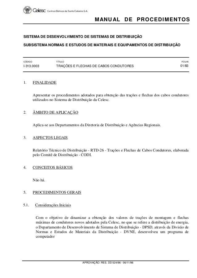 SISTEMA DE DESENVOLVIMENTO DE SISTEMAS DE DISTRIBUIÇÃO SUBSISTEMA NORMAS E ESTUDOS DE MATERIAIS E EQUIPAMENTOS DE DISTRIBU...