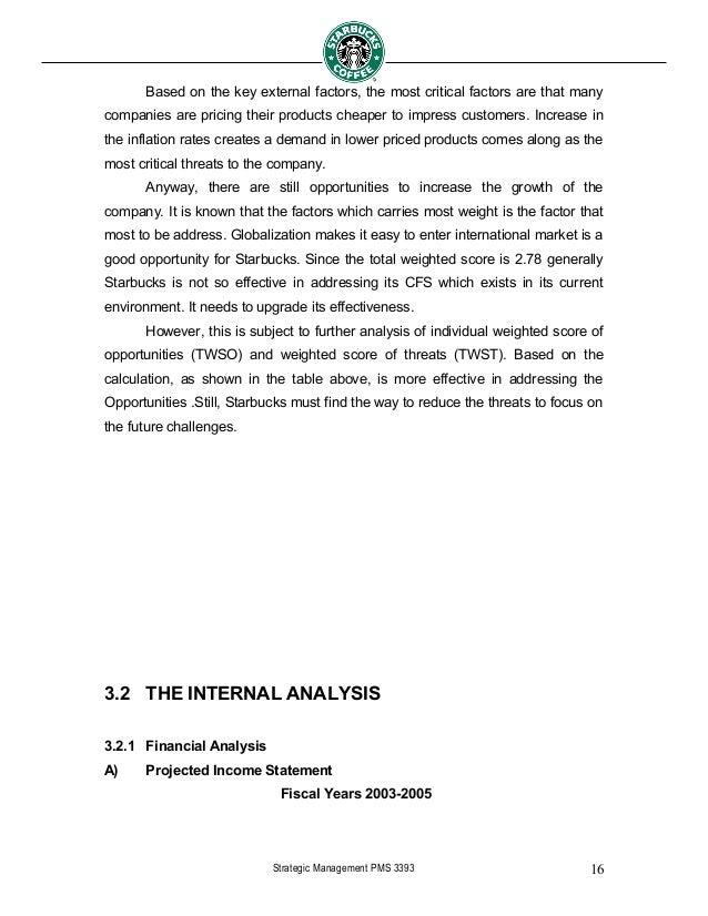 financial analysis of starbucks case study