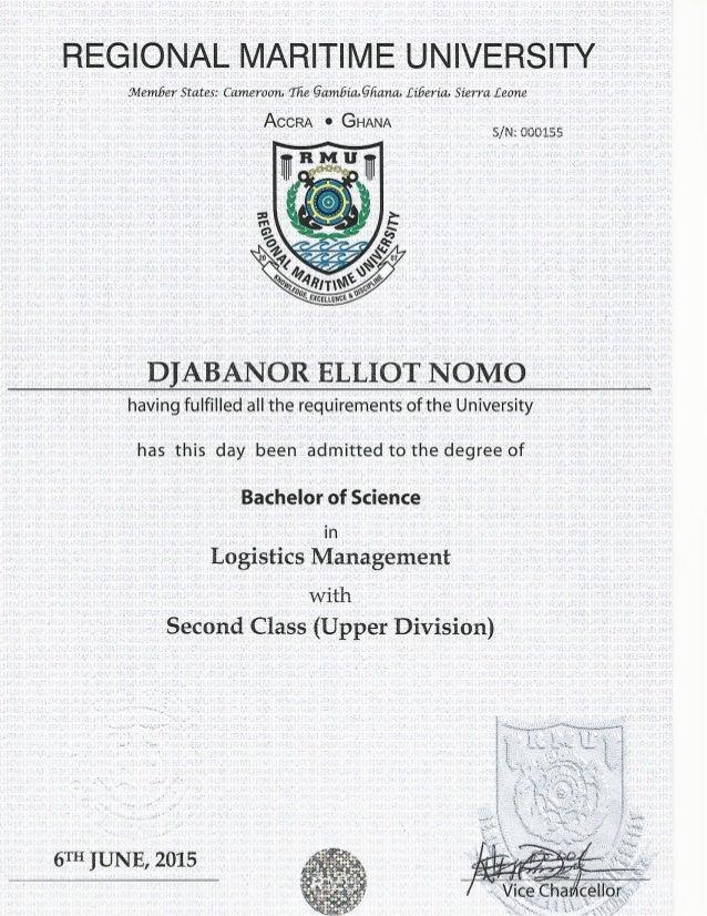 Certificates - Elliot