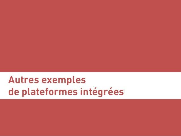 Autres exemples de plateformes intégrées Serge Courrier ►► Dataviz ►► Août 2017 ►► 50