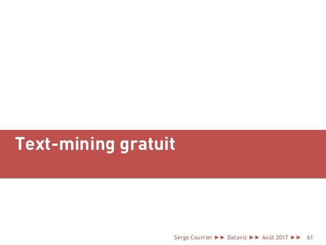 Text-mining gratuit Serge Courrier ►► Dataviz ►► Août 2017 ►► 61