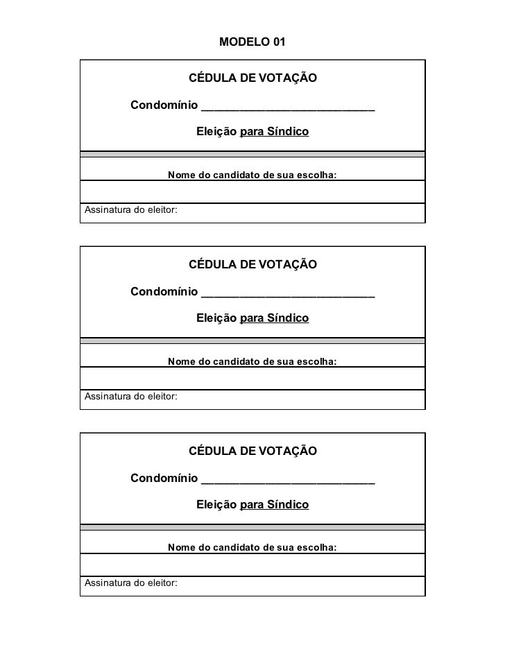Modelo Convocação Eleição Trabalhos Acadêmicos September