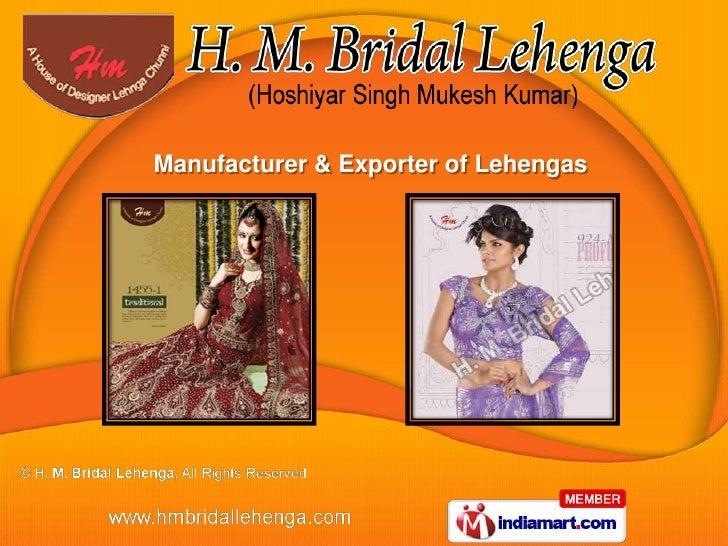 Manufacturer & Exporter of Lehengas