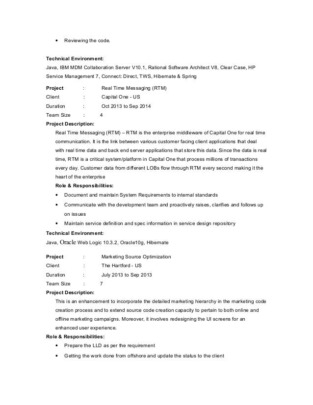 software architect resumes