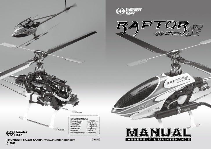Manuale Raptor 50 Titan SE