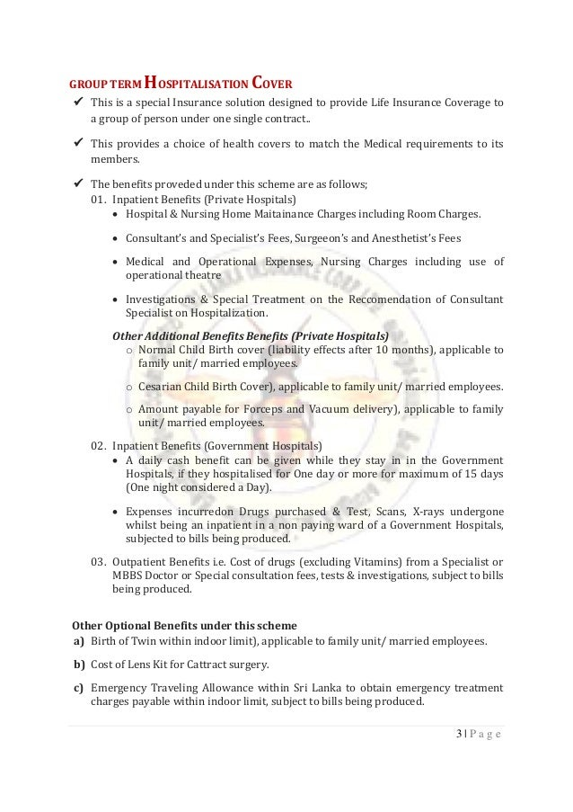 Insurance Proposal - Slic Corporate Employee (Format)