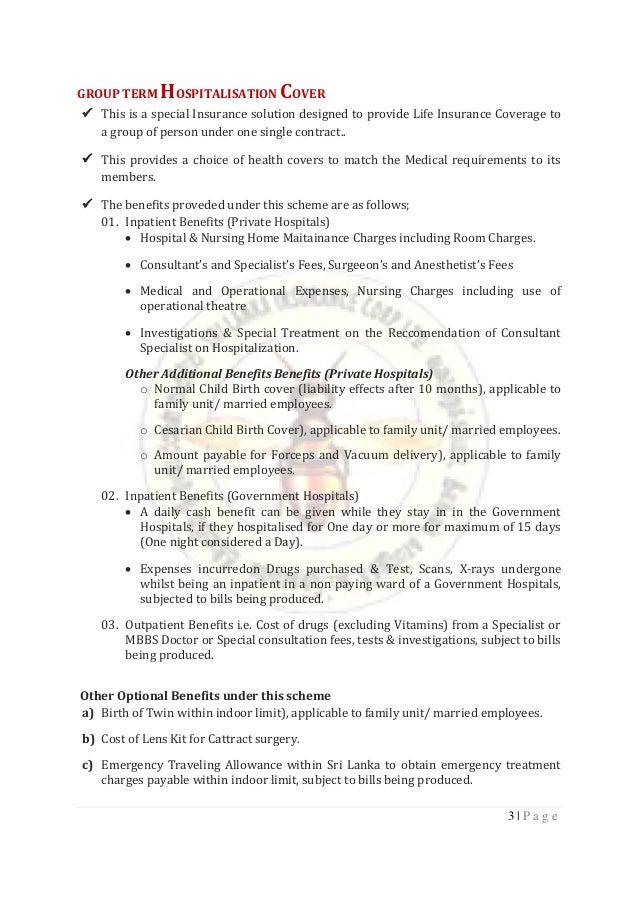 Insurance Proposal  Slic Corporate Employee Format