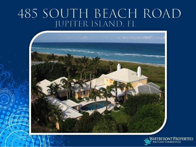 485 S  Beach Road- Jupiter Island, Florida