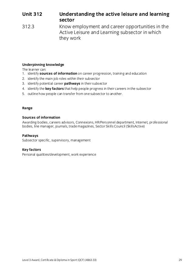 level 3 award in education and training answers