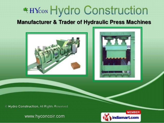 Manufacturer & Trader of Hydraulic Press Machines