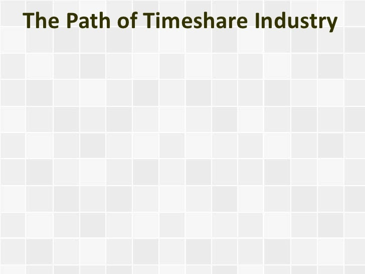 The Path of Timeshare Industry