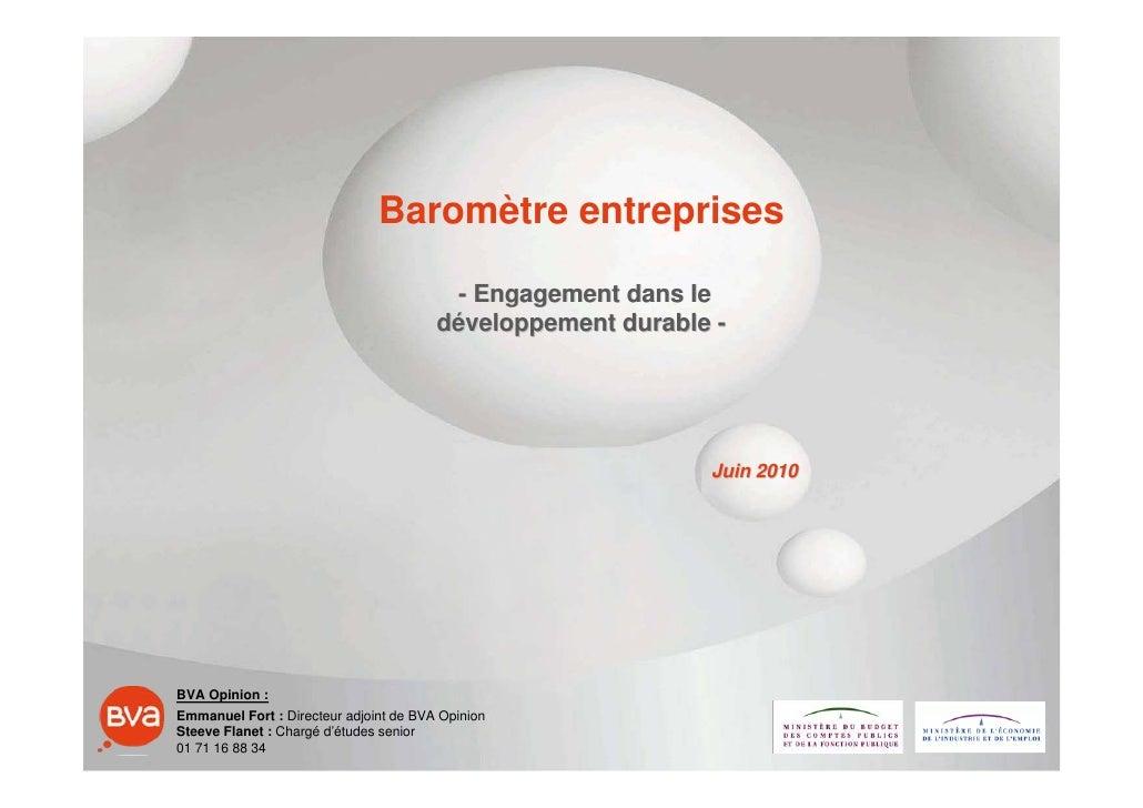 Baromètre entreprises                                           - Engagement dans le                                      ...
