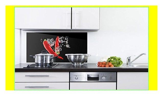 GRAZDesign 200121_80x60_SP Spritzschutz Glas für Küche/Herd ...