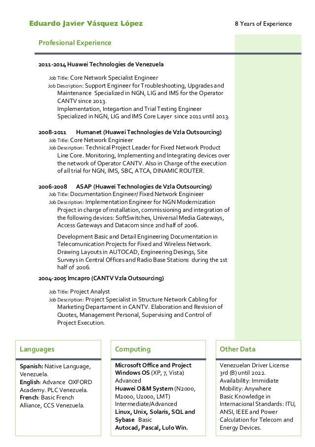 Curriculum Vitae EJVL English Ven