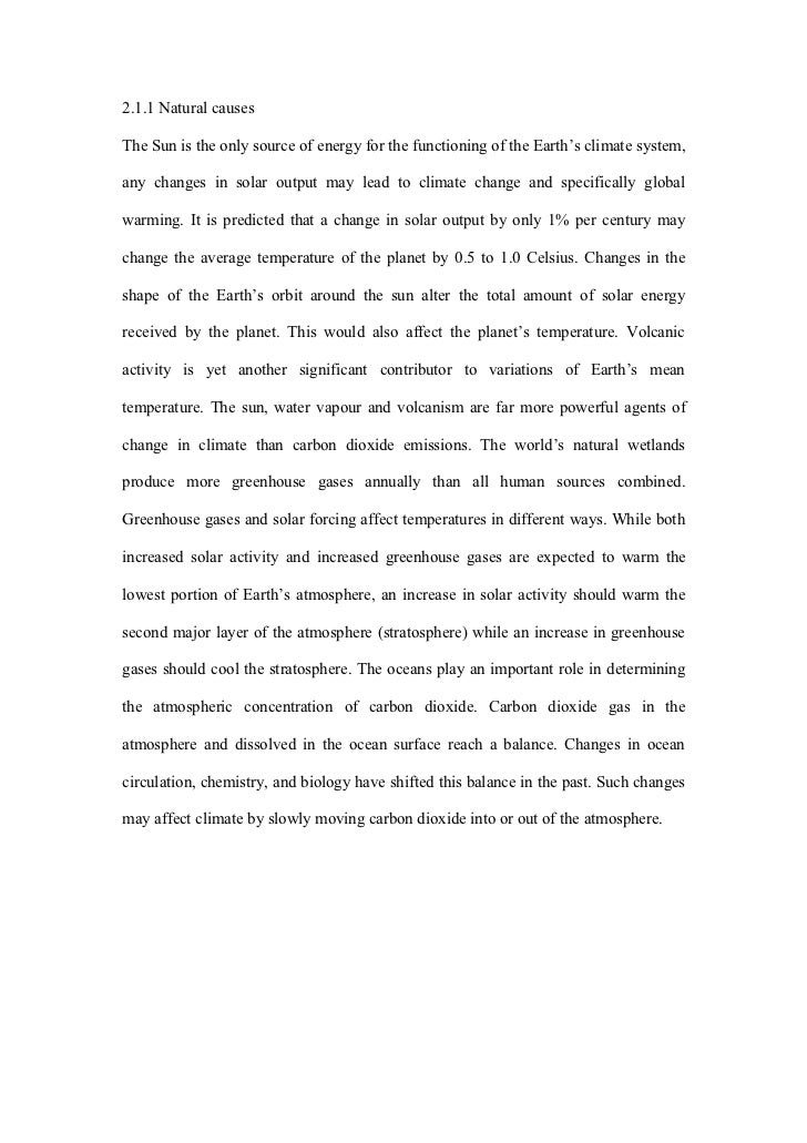 assignment on global warming and climate change