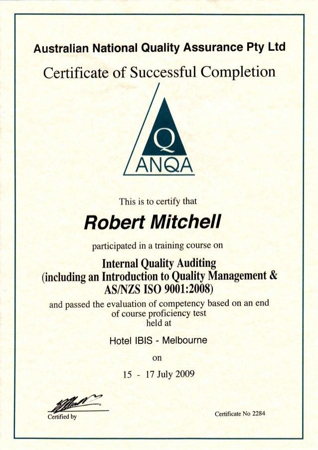 Internal Audit Certification