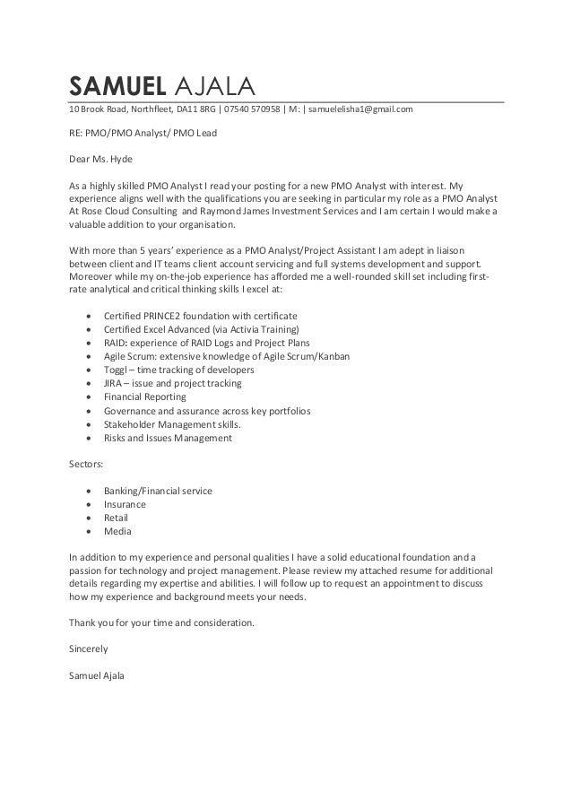 Superb Cover Letter Original. SAMUEL AJALA 10 Brook Road, Northfleet, DA11 8RG |  07540 570958 | M: