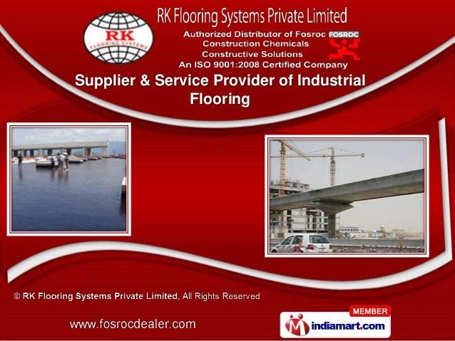 Supplier & Service Provider of Industrial                Flooring