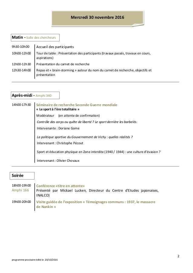 Programme Mémoriales 2016 Slide 2
