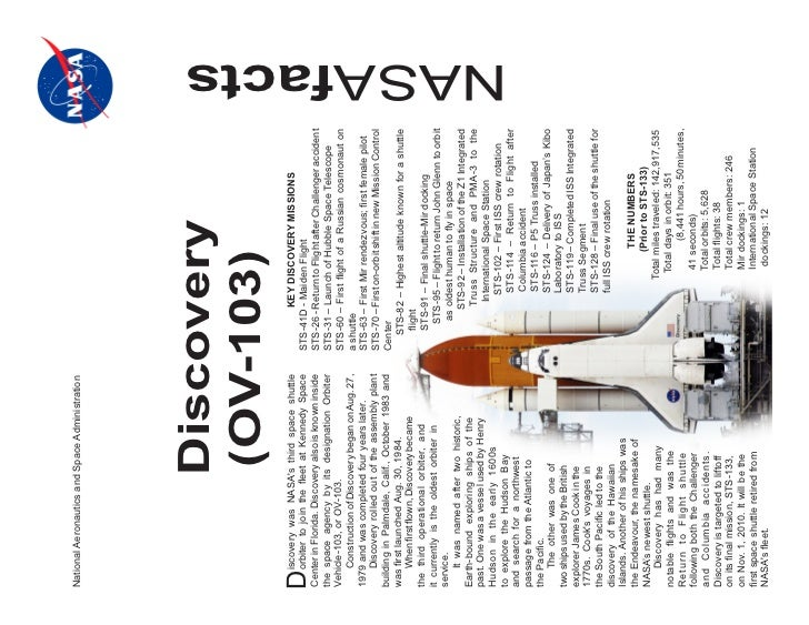 National Aeronautics and Space Administration                         Discovery                         (OV-103)     iscov...
