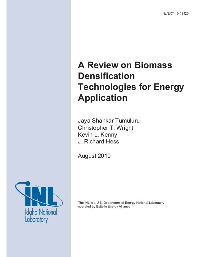 The INL is a U.S. Department of Energy National Laboratory operated by Battelle Energy Alliance INL/EXT-10-18420 A Review ...