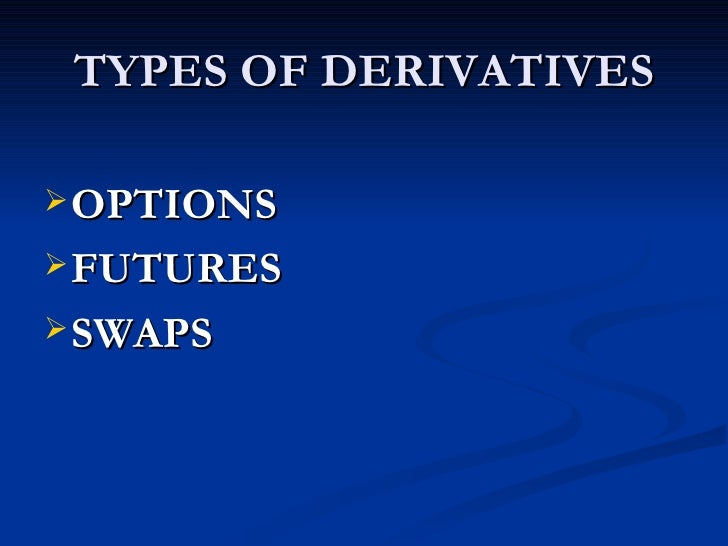 Derivatives market ppt