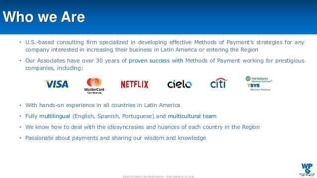 Latin Wisdom About Advertises: Wise Payment Strategies Group