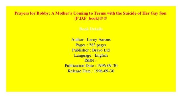 Prayers For Bobby Book Pdf