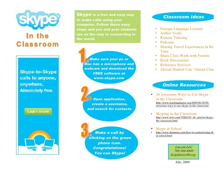 Skype is a free and easy way                                                        Classroom Ideas             to make ca...