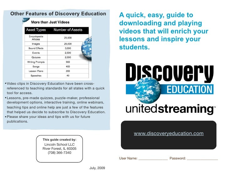 Other Features of Discovery Education                         A quick, easy, guide to                                     ...