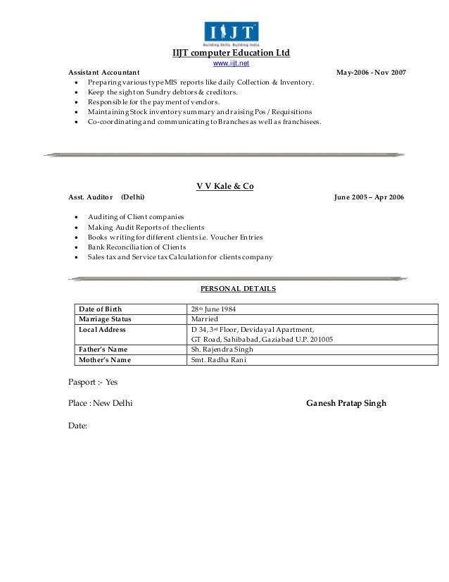 resume gps