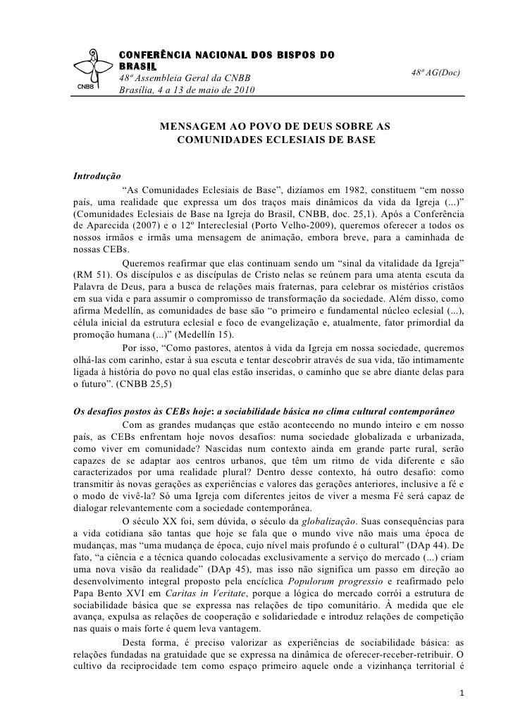CONFERÊNCIA NACIONAL DOS BISPOS DO            BRASIL                                                                      ...
