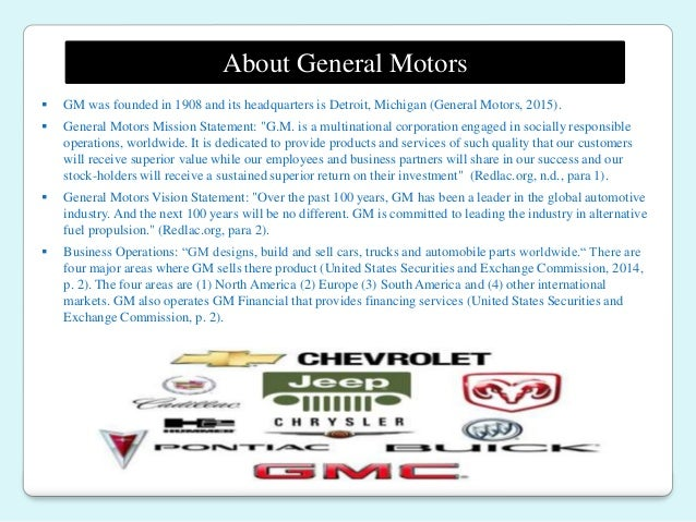 General motors vision statement for General motors mission statement 2017