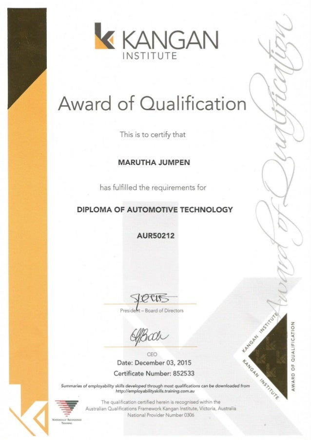 Diploma  cert.