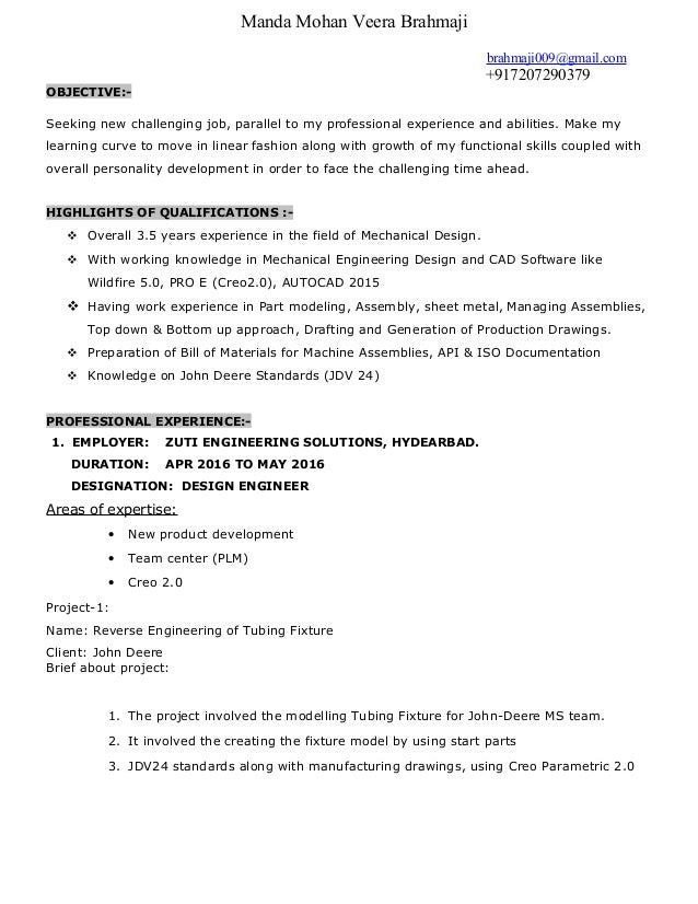 Manda Mohan Veera Brahmaji brahmaji009@gmail.com +917207290379 OBJECTIVE:- Seeking new challenging job, parallel to my pro...