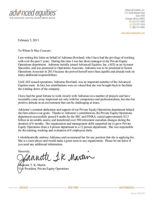 letter of recommendation mrs j martin