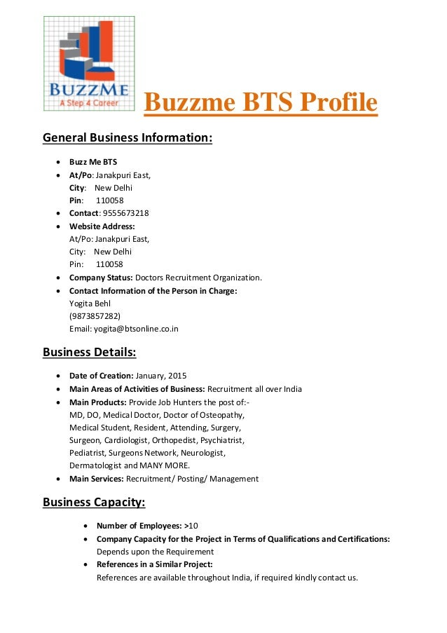 Buzzme BTS Profile