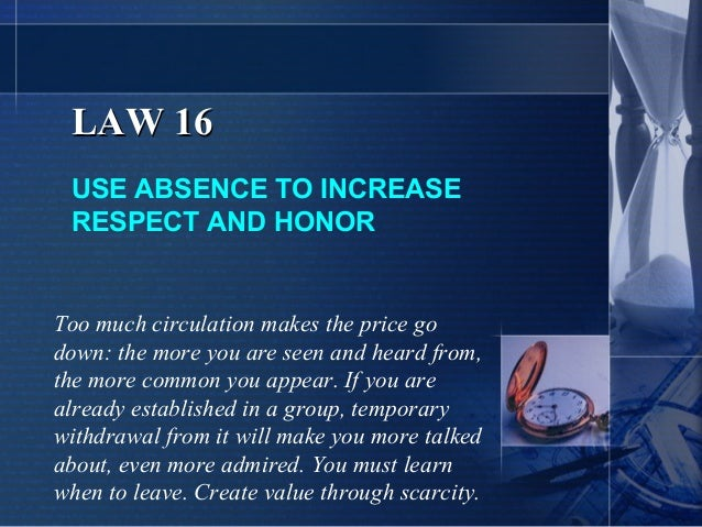 48 laws of power absence
