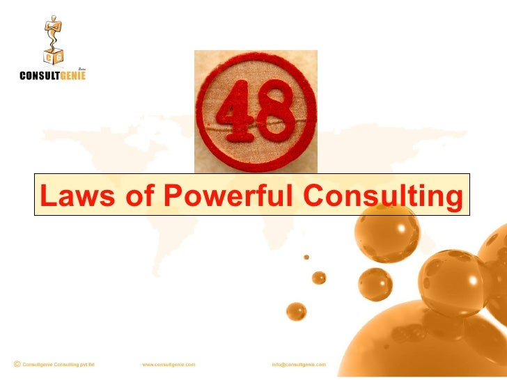 Laws of Powerful Consulting