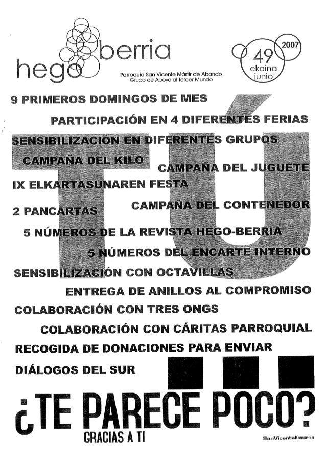 erria  Parroquia San Wcent árlir de Abando Grupo de Apoyo ercer Mundo  9 PRIMEROS DOMINGOS DE MES               _ ¿ES FERI...