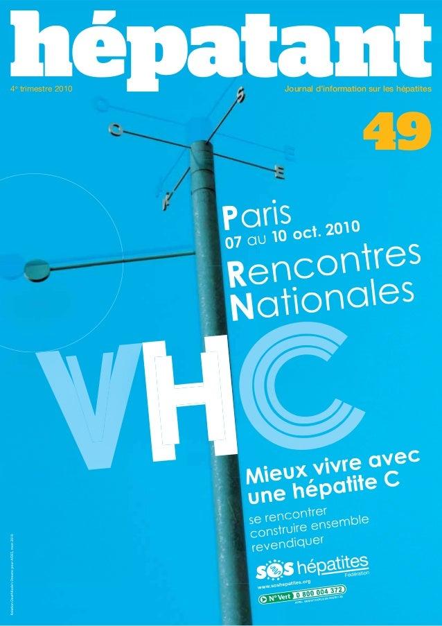 4e trimestre 2010  Journal d'information sur les hépatites  49