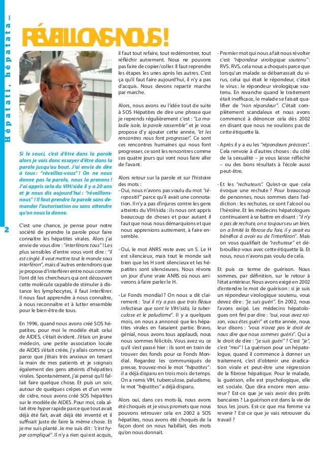 Journal L'Hépatant N°49 Octobre 2010 Slide 2