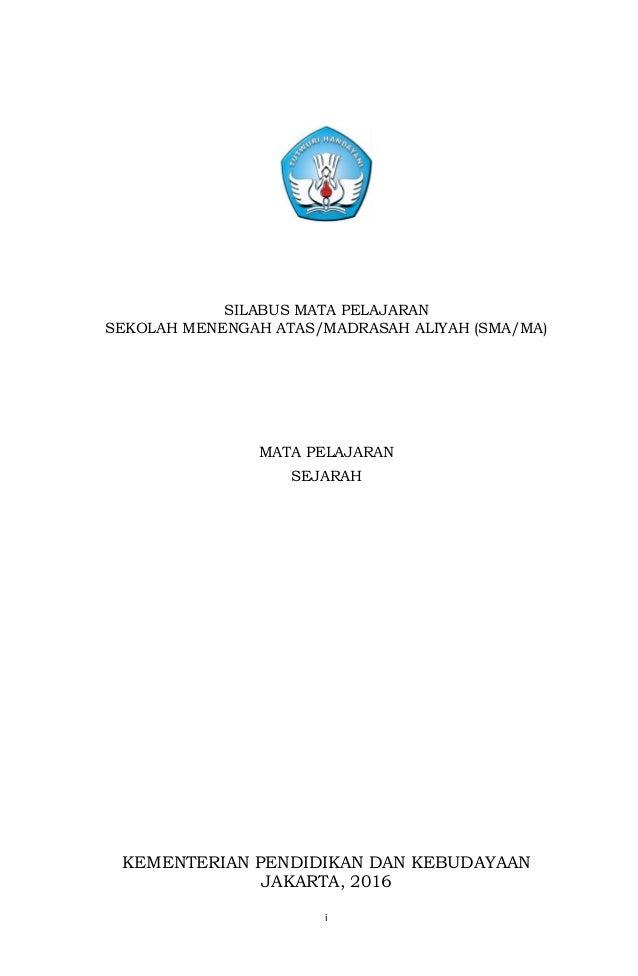 Silabus Sejarah Peminatan Kurikulum 2013 Revisi