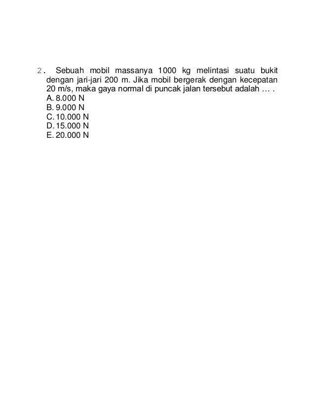 Contoh Soal Hukum Newton 1 Dan 3 - Rommy Car