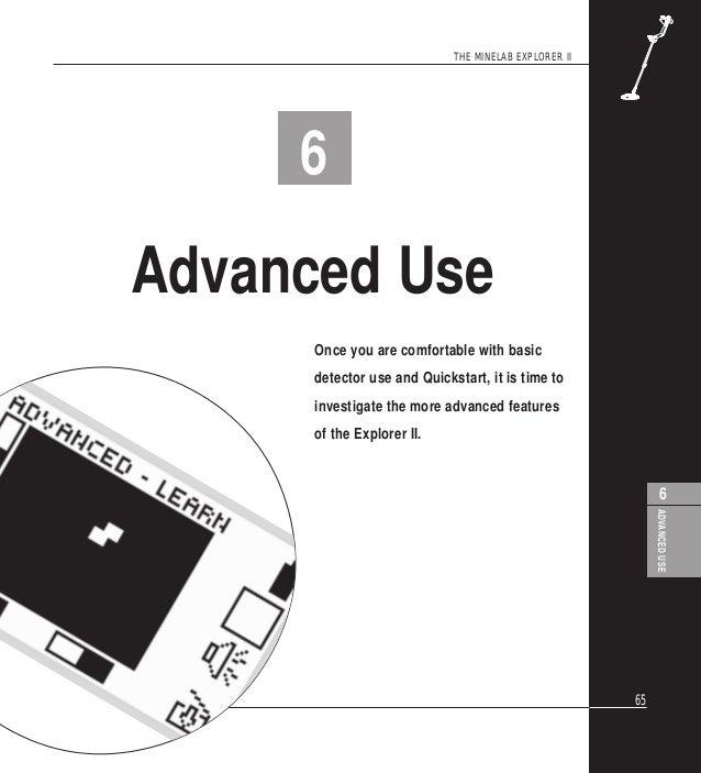 Instruction Manual Minelab Explorer II Metal Detector