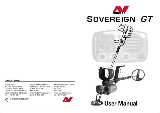 instruction manual minelab sovereign gt metal detector english langua rh slideshare net Instruction Manual Clip Art Wildgame Innovations Manuals