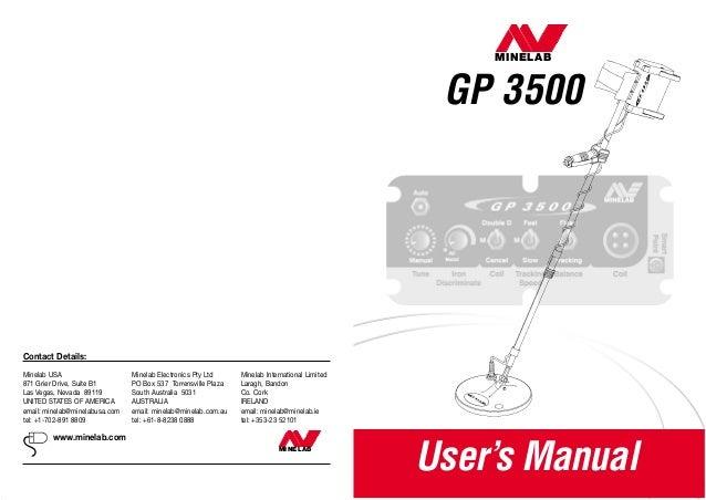 instruction manual minelab gp 3500 metal detector english language we rh slideshare net Bissell PowerSteamer User Manual Operators Manual