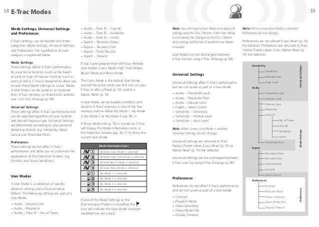 Instruction Manual E-Trac Metal Detector English Language