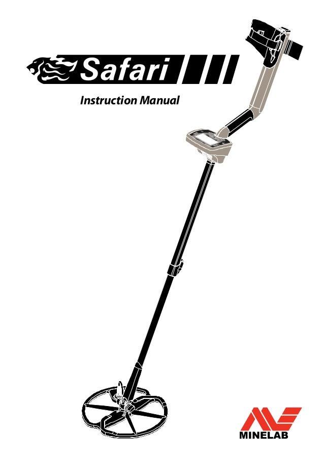 Instruction Manual Minelab Safari Metal Detector English